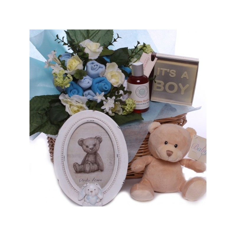 Luxury Baby Gift Hamper : Luxury baby boy gift basket