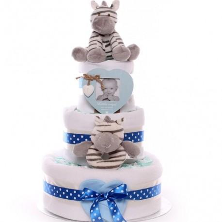 Zebra Nappy Cake Nappy Cake Gift New Baby Boy Nappy